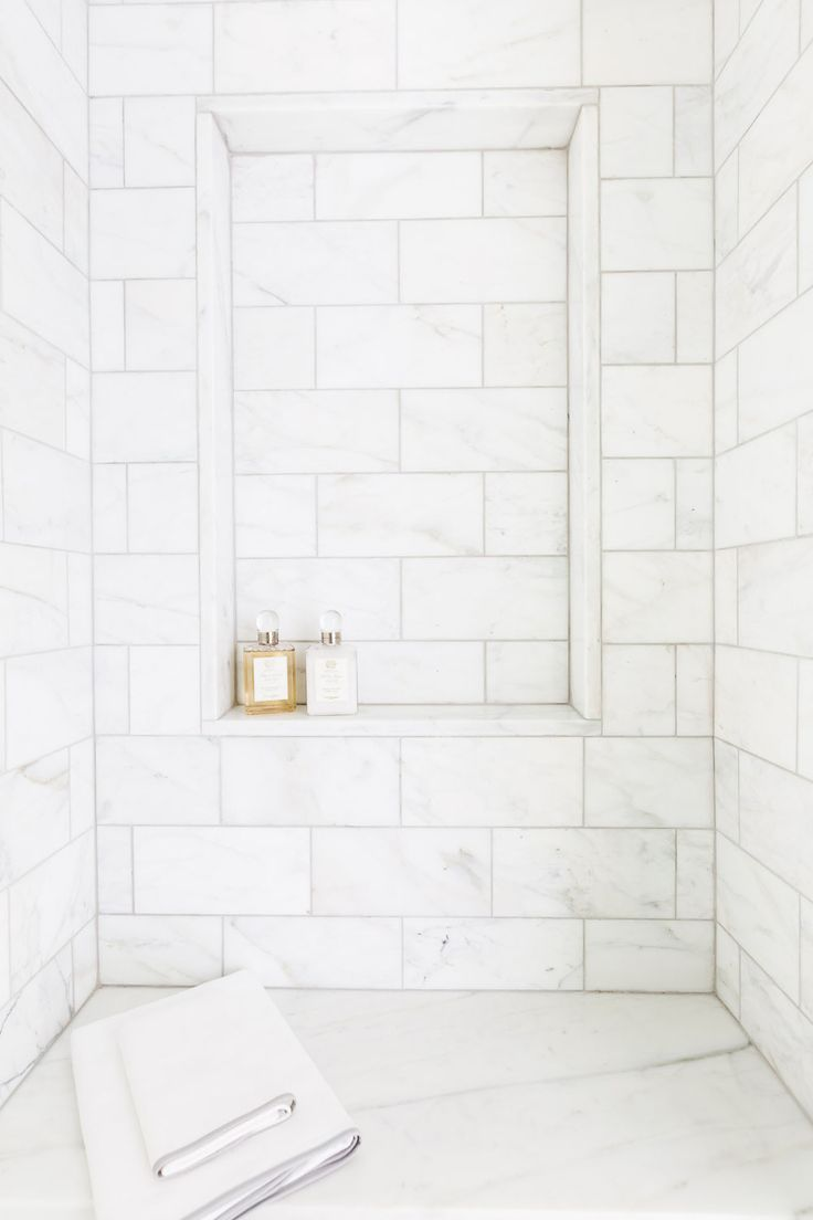 white tile bathrooms dream bathrooms beautiful bathrooms small bathroom master bathroom bathroom ideas marble tiles white tiles built in shelves