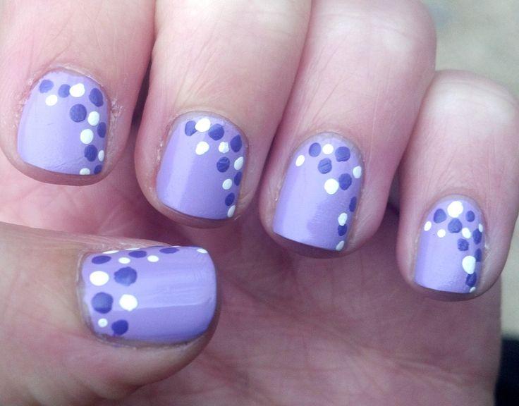 light purple polka dot nails: Nails Design