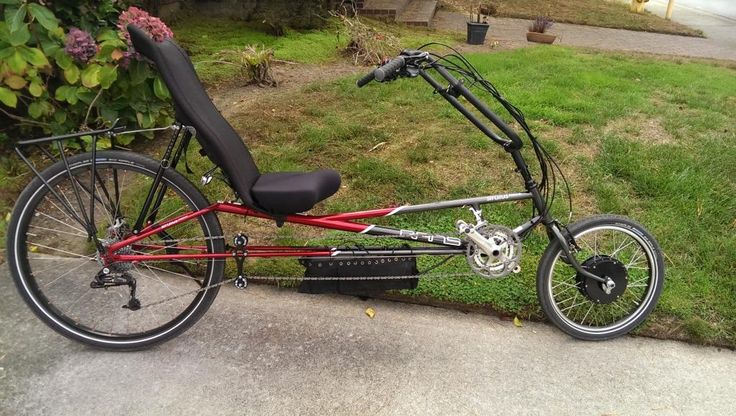 559 best recumbents images on pinterest cycling bicycle for Recumbent bike with electric motor