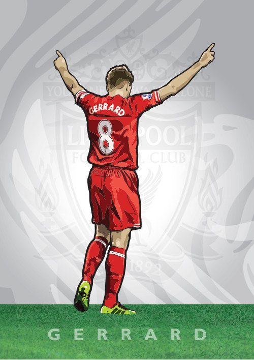 Football Icons Steven Gerrard by FeintZebra on Etsy