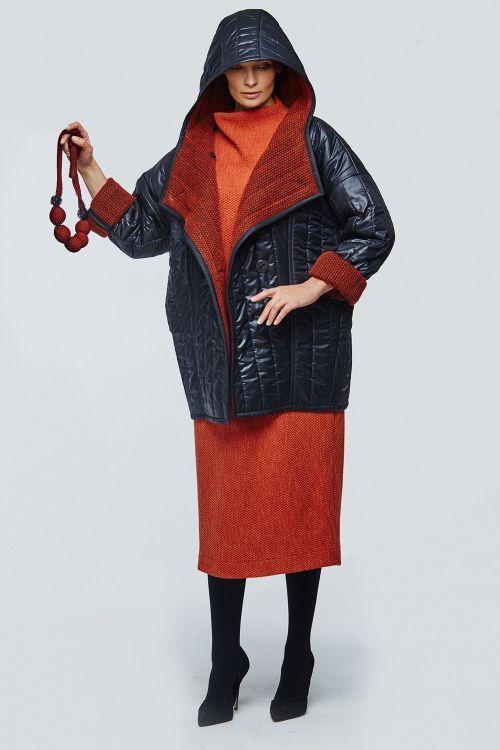 Lesel - Куртка с капюшоном стёганая с шерстью