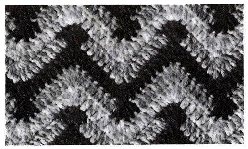 Chevron Afghan Pattern motif