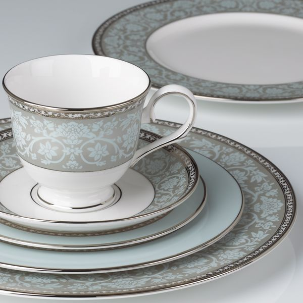 Superior A Timeless Combination Of Platinum And Intricate Blooms Is The Westmore Place  Setting In Classic Bone China. The Place Settingu0027s Serene Palette Of Pure  ... Awesome Ideas