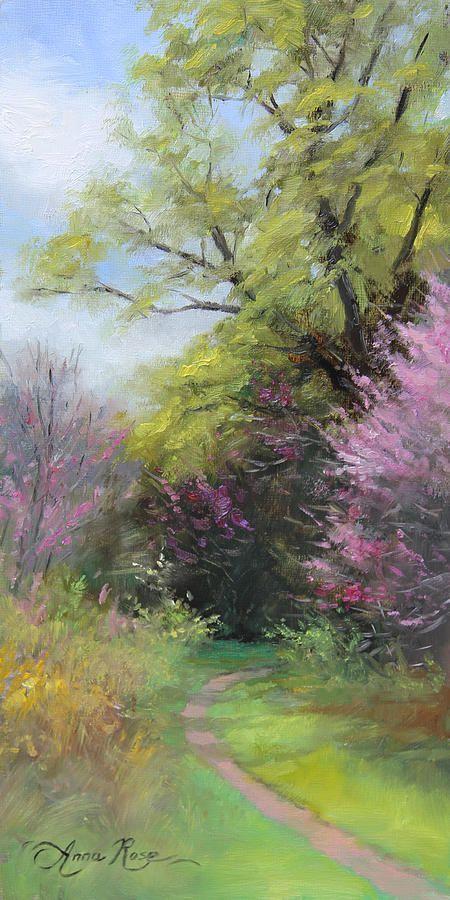 Spring Trail Canvas Print / Canvas Art by Anna Rose Bain