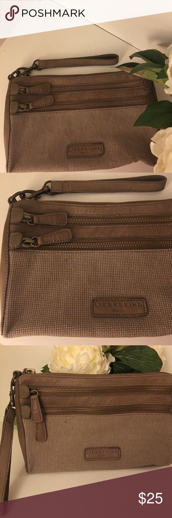 Liebeskind Leather trim clutch Liebeskind leather trim clutch Liebeskind Bags Clutches & Wristlets