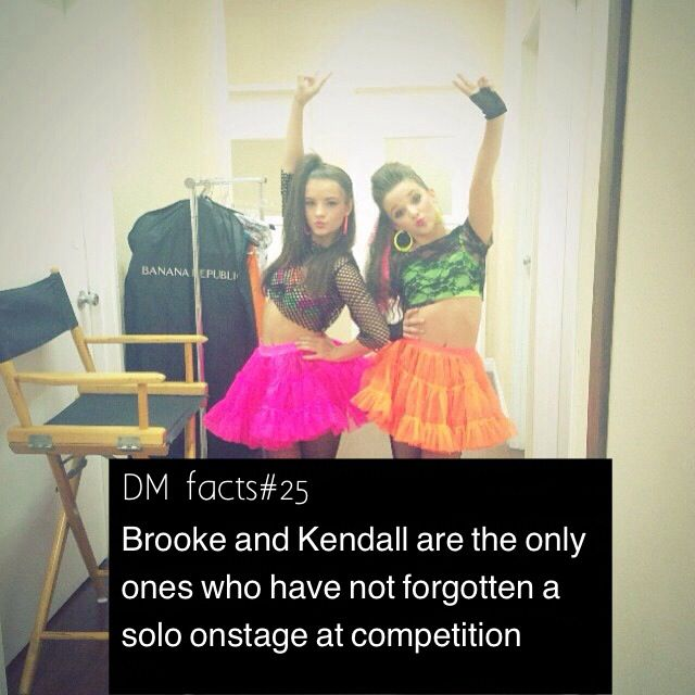 Brooke and Kendall may not of forgotten a solo at a competition yet