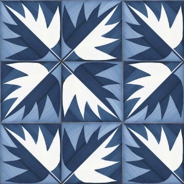 "inset ""carpet"" of tile, with a border, winter garden mood B ""La foglia"" ceramic tiles designed by Gio Ponti #pattern"