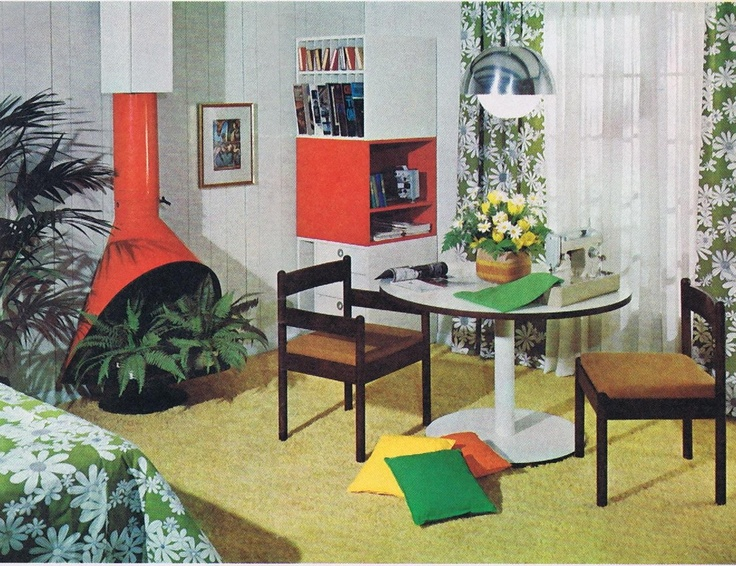 mod interior from vintage 60s perfect home magazine - 60s Home Decor