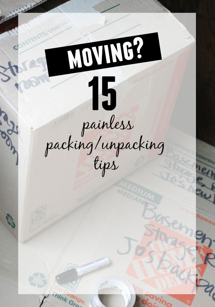 Moving? - painless packing & unpacking tips | our fifth house | Bloglovin'