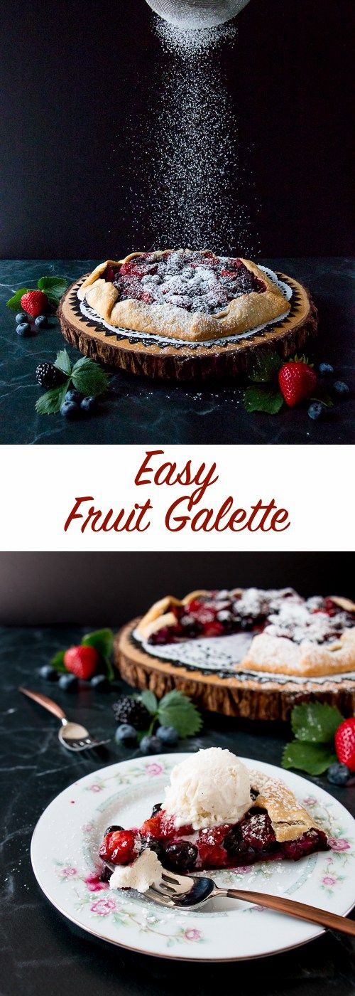 Enjoy your favorite fruits with this uber-easy galette recipe. You can whip up this rustic charming dessert in a matter of minutes for any occasion.