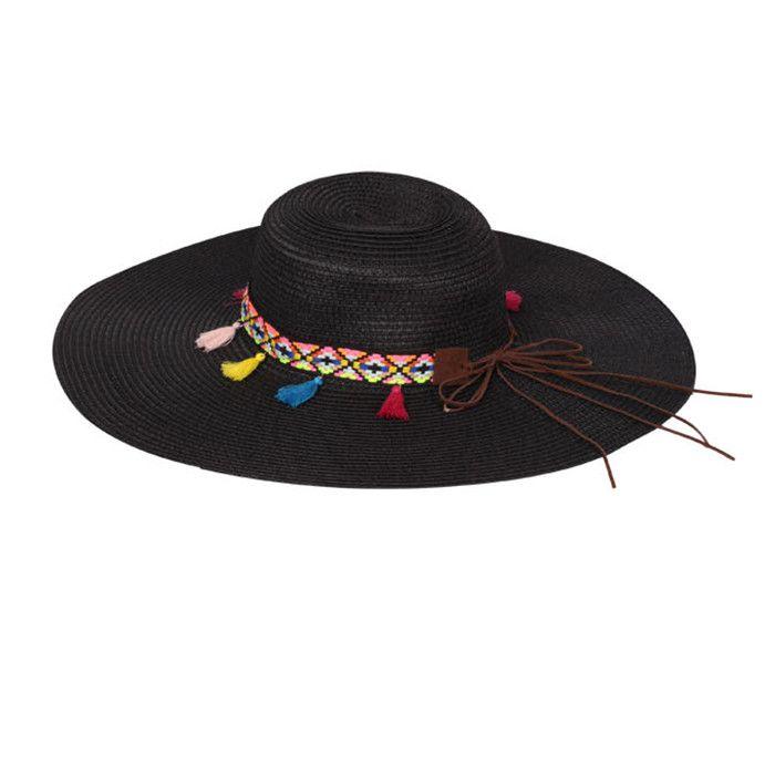 'Lola' Floppy Hat - Black