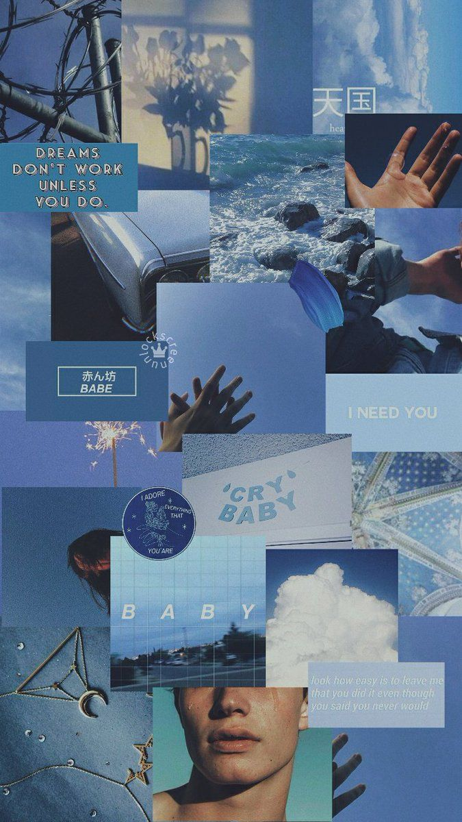 Blue Aesthetic Collage Wallpaper : aesthetic, collage, wallpaper, Lockscreen, Twitter, Wallpaper, Iphone,, Aesthetic, Iphone, Wallpaper,, Pastel