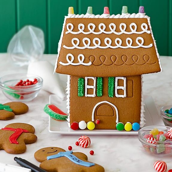 Williams-Sonoma Gingerbread House Kit | Williams-Sonoma    Scarves on gingerbread men scarves personalized