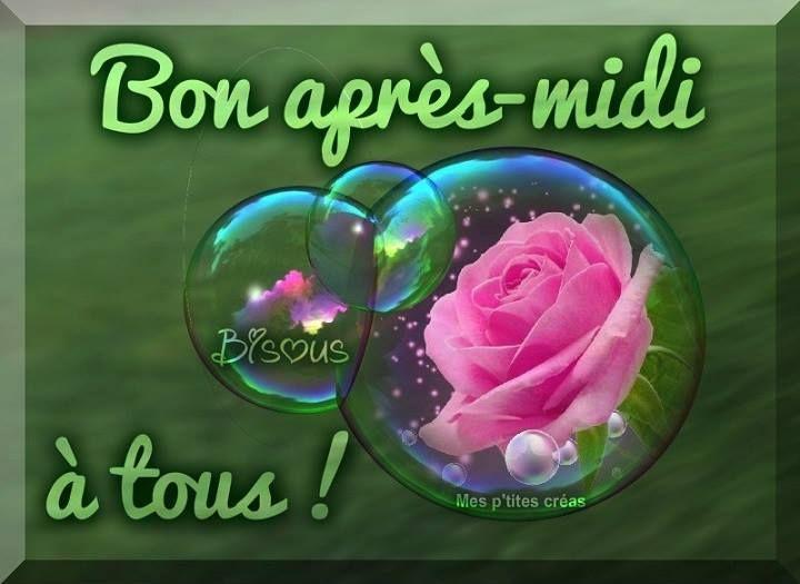 Bon apres-midi à tous ! #bonapresmidi bulles fleurs roses bonne humeur
