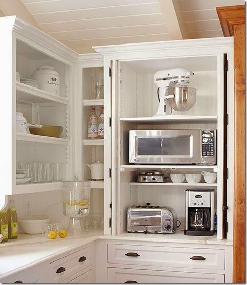 great kitchen storage for small appliances