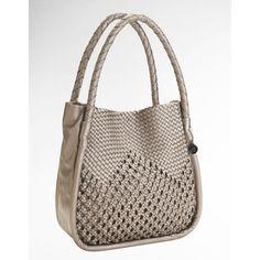 Big Buddha Rihanna Crochet Tote Bag (€57) found on Polyvore