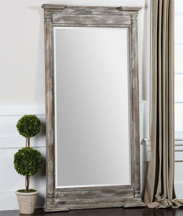 """Uttermost Valcellina Wooden Leaner Mirror 38""""x74"""""""
