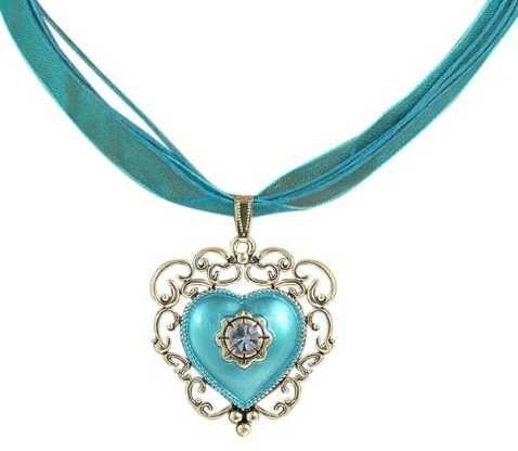 Trachtenkette blaues Herz