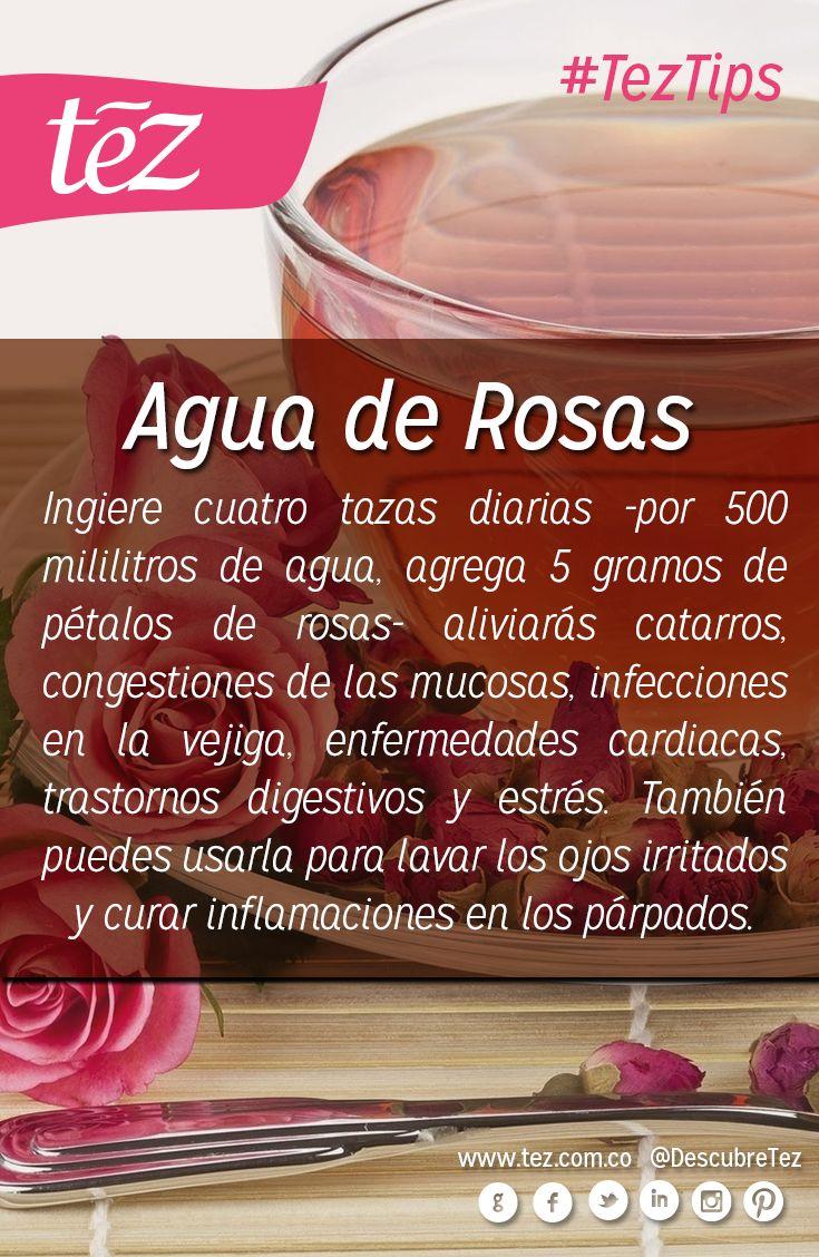 Beneficios del agua de #rosas.