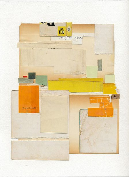 Melinda Tidwell -- used paper collage #paper #collage #warm colors