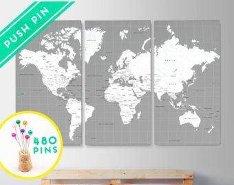 10 best images about world map canvases on pinterest ocean canvas world map push pin map large size ocean color set 3 canvas countries capitals usa canada states 240 pins 198 stickers gumiabroncs Choice Image