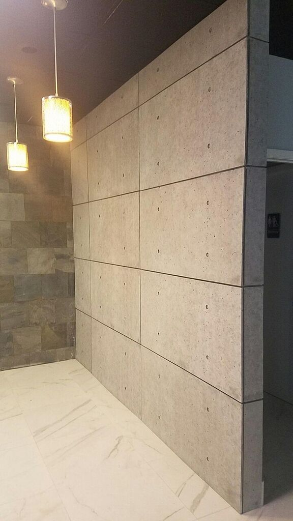 Hour Wall Urbanconcrete Industrial Grey Grey Gray Exposed Panels Feature Accent Wall Character Glue Nails Screws Easy Ins Einbauschrank Mauer Haus