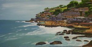 Overcast at South Bondi - Oil on Canvas 2007 Artist: Linda Leftwich