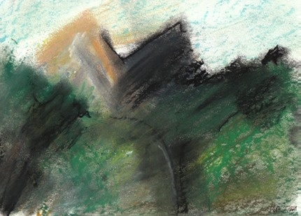 Provence Alps 1  Pastels on paper  38x24cm  160€