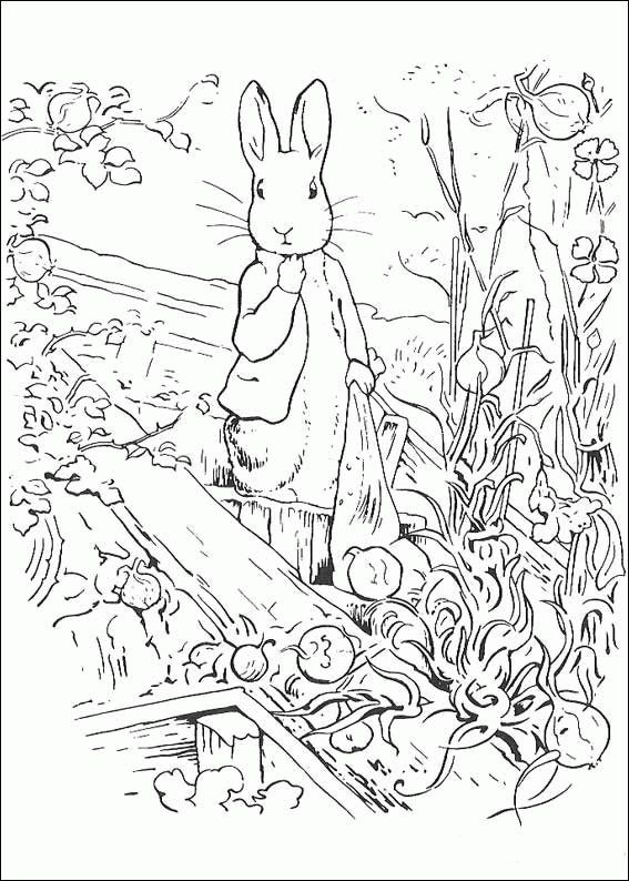 Pierre lapin Coloriages Colorier