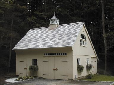 Carriage house window boxes and sheds on pinterest for Carriage house shed