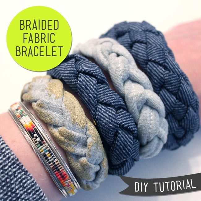 DIY Tutorial Braided Fabric Bracelet — Sew DIY