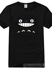 Ispirato da il mio vicino Totoro Gatto Anime Costumi Cosplay Cosplay T-shirt Con stampe Nero Maniche corte T-shirt
