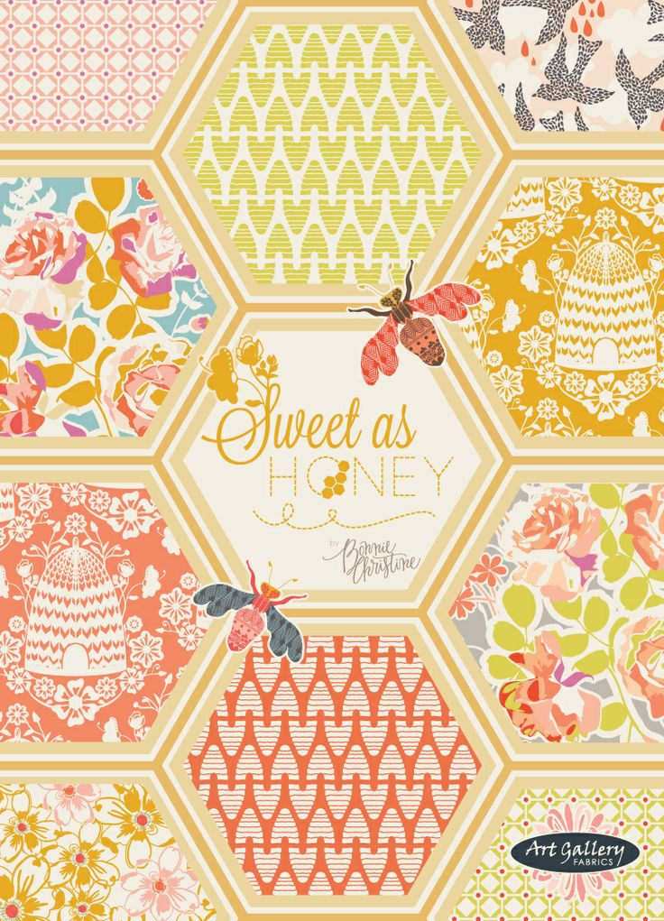 Buzz into Spring with Sweet as Honey by Bonnie Christine for Art Gallery Fabrics:
