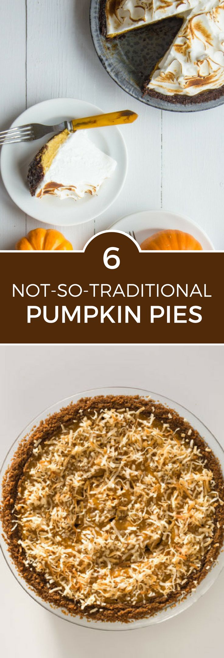 Pumpkin season is here! Change things up this year with these 6 twists on the traditional pumpkin pie. You'll never look back!
