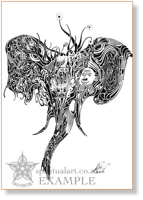 """""""Home"""" - Conscious Drawing - Inspirational, Intuitive Art by Source size A5 
