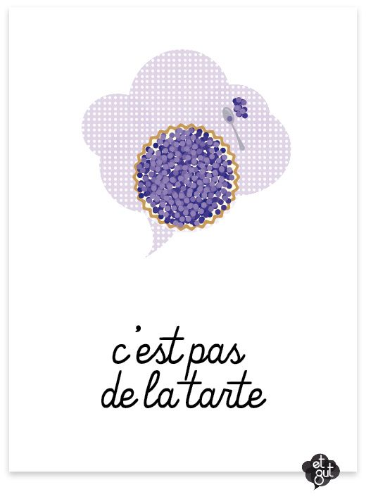 """The French expression c'est pas* de la tarte is equivalent to """"it's not easy, it's tough, it's hard work."""" What's really interesting is to compare this to the English expression """"It's a piece of cake."""" At first glance, it seems like an almost perfect equivalent."""