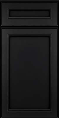 Door Detail - Square Recessed Panel - Veneer (PDM) Maple in Onyx - KraftMaid Cabinetry