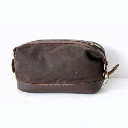 Mens Oil Skin and Leather toiletry bag,  #travel accessories #travel #mensfashion #doppkit