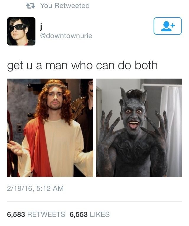 Beebo a a demon and Jesus this is so on point