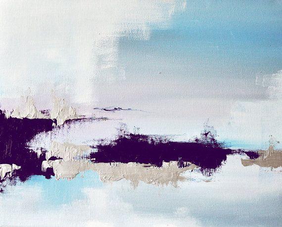 Frozen Lake 5 original abstract painting winter von AbstractArtM