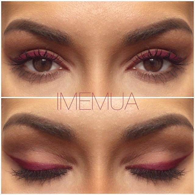 Who says lip crayons are only for lips? @imemua wearing motives lip crayon in raisin as eyeliner.