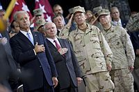 Vice President Joe Biden, Secretary of Defense Robert Gates, Admiral Mike Mullen and General Mattis in Baghdad, Iraq