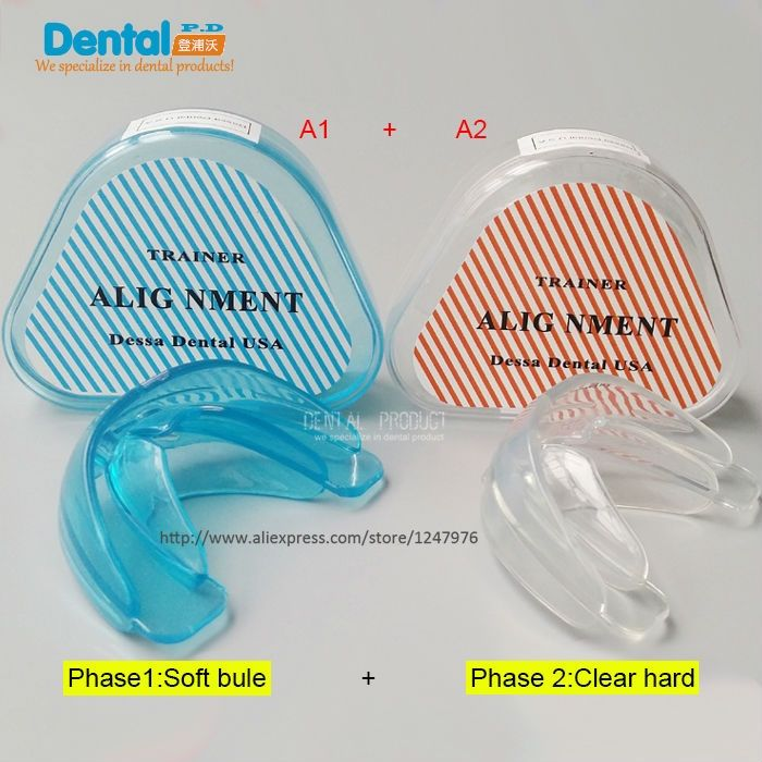 6.8$  Know more - New 2Pcs/lot Dental Tooth Orthodontic Appliance Trainer Alignment Braces Mouthpieces On Sale Teeth Care   #buymethat