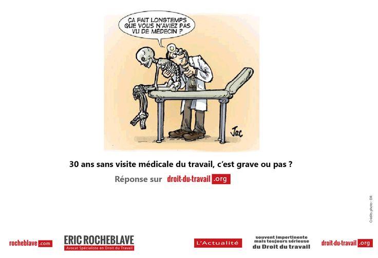 Visite médicale d'embauche, visite médicale périodique, visite médicale de reprise… via @rocheblave