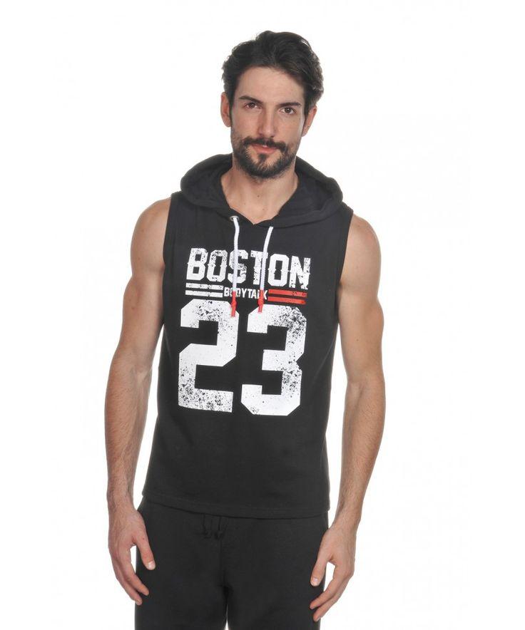 T-shirt Ανδρικό Αμάνικο με Κουκούλα - BodyTalk e-shop