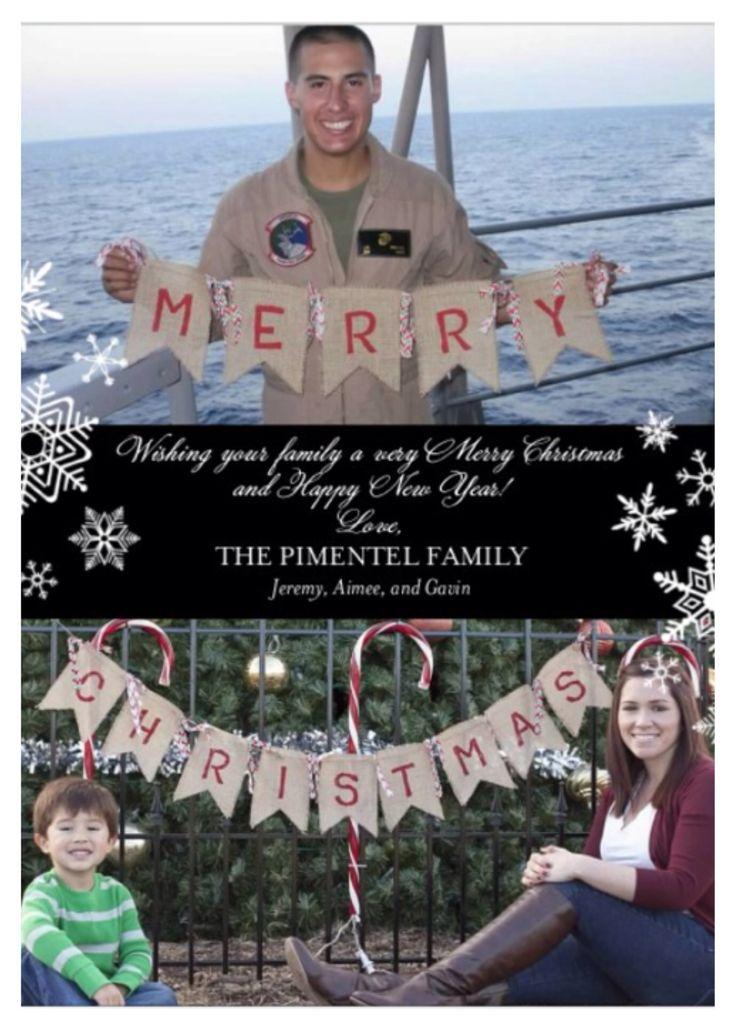 Christmas card for deployment #deployment #christmas #military