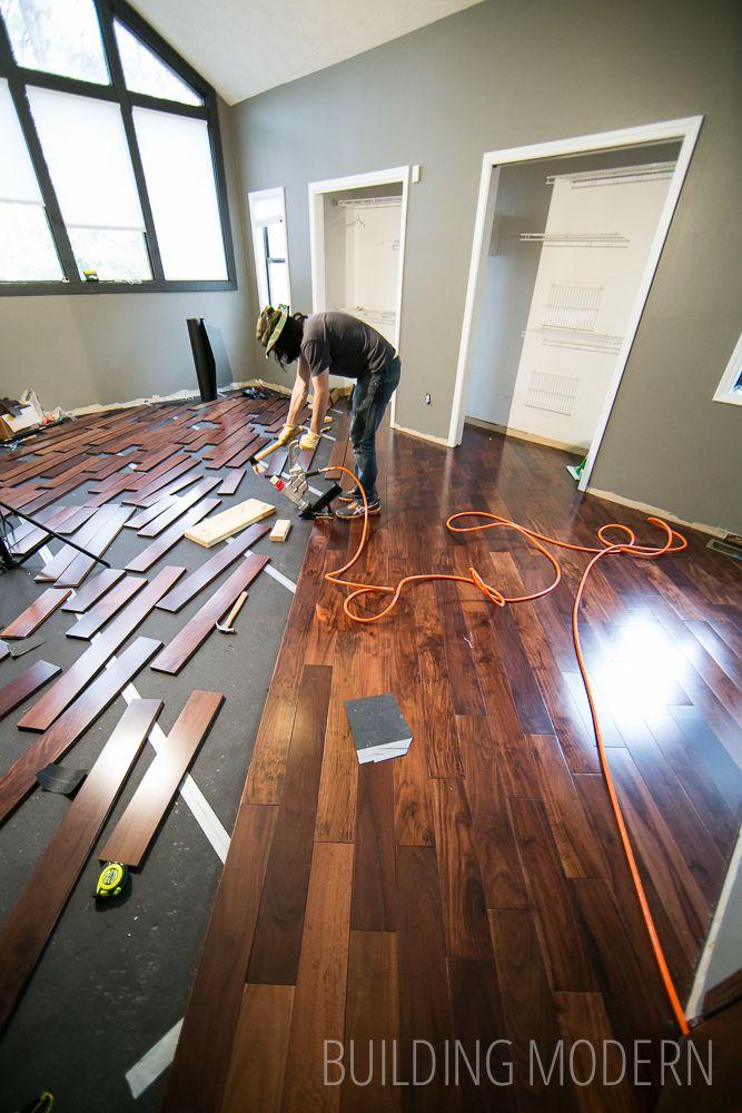 Installing Hardwood Floors In Our Master Bedroom Part 2 Installing Hardwood Floors Hardwood Floors Flooring