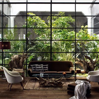 those wall of glass that drive me crazy...   for my new house project i want a wall of glass indoor and outdoor...to live indoor with outdo...