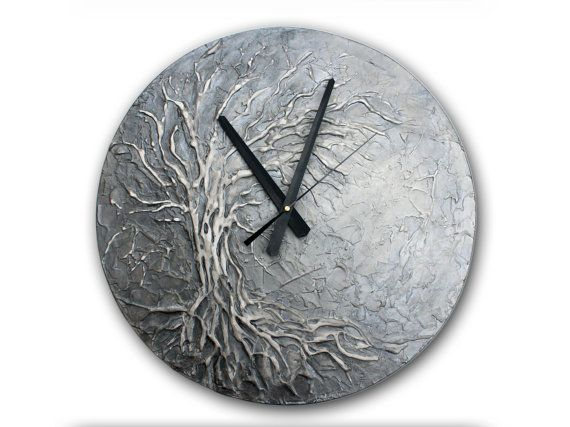 Wall Clock Art best 25+ silver wall clock ideas on pinterest | silver walls, wall