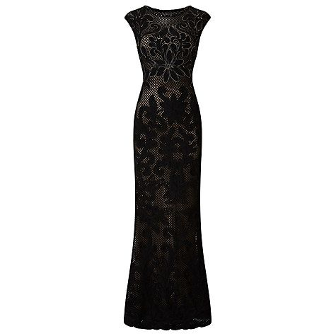 Buy Phase Eight Collection 8 Enid Floral Tapework Dress, Black/Nude Online at johnlewis.com